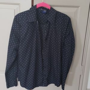 Dark navy button up